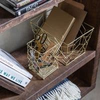 Gold Metal Storage Box   Home Accessories